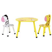 Charles Bentley Children's Safari Table & Chairs Set / Small