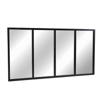 Charles Bentley Extra Large Industrial Mirror Black 140x75cm