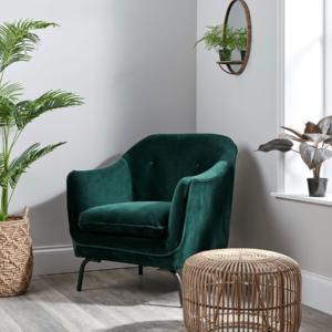 Forest Green Velvet Occasional Chair