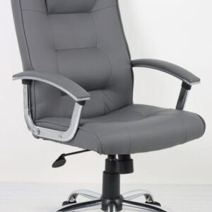 HH Solutions HH7108GY Adjustable Executive Leather Chair - Grey