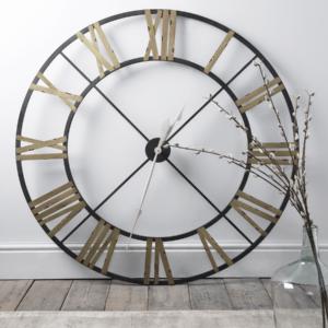 Ironwork Cut Out Clock