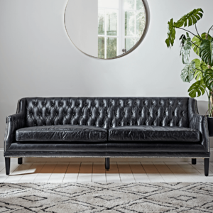 Leather Buttoned Sofa