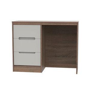 Nantes Satin cashmere oak effect 3 Drawer Large Desk (H)795mm (W)1200mm (D)540mm