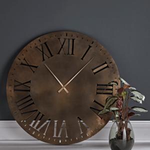 Oversized Bronze Clock