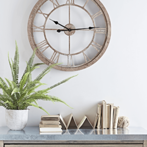 Weathered Wood Cut Out Clock