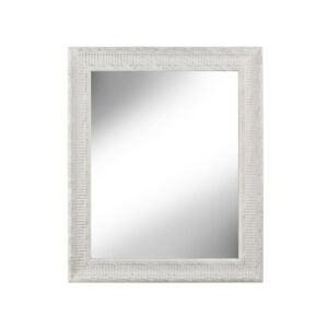 Carved White Brush Gold Wall Mirror