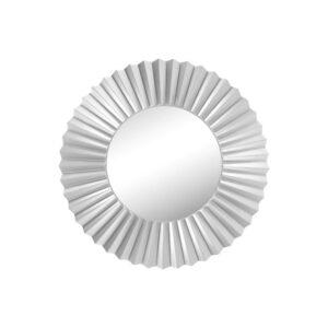Large Round Silver Modern Sunburst Wall Mirror