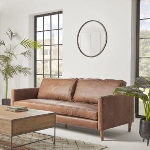 NEW Calcott Leather Sofa