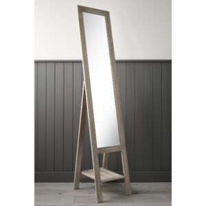 Natural Wooden Free Standing Mirror