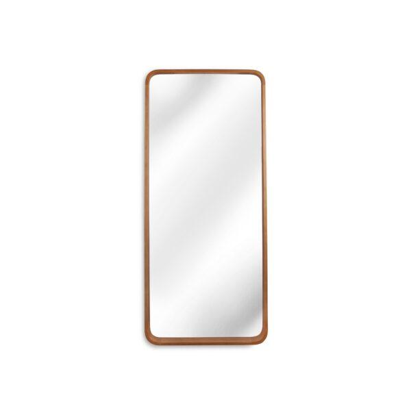 Oak Effect Tapered Wall Mirror