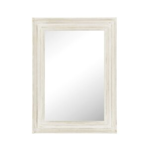 Whitewashed Rectangular Wall Mirror