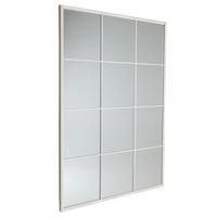 Charles Bentley Large Industrial Window Mirror - Antique White