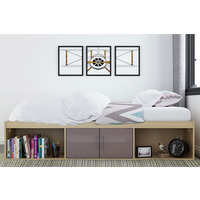 Parker Cabin Bed-Grey-Single