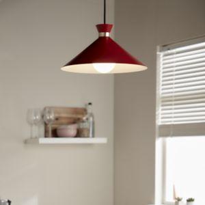 GoodHome Apennin Matt Red Pendant Ceiling Light