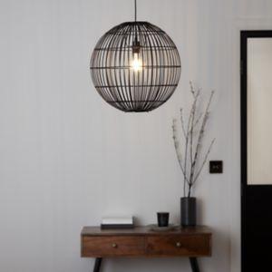 GoodHome Dacite Black Pendant Ceiling Light