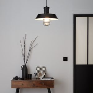 GoodHome Genly Black Pendant Ceiling Light