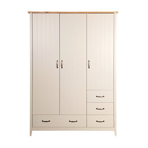 Westwick Grey oak effect 5 Drawer Triple Wardrobe (H)1920mm (W)1420mm (D)560mm