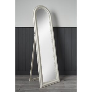 Large Full Length Free Standing Arched Wooden Mirror