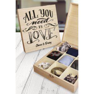 Personalised All You Need Is Love Large Keepsake Box