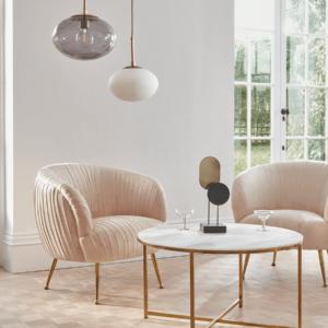 Pleated Velvet Chair
