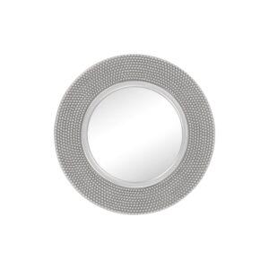 Textured Round Silver Decorative Wall Mirror