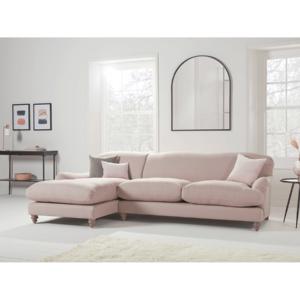 Cosy Grand Chaise Sofa Blush Velvet - Left Hand Facing