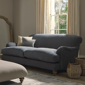 Cosy Three Seater Sofa - Birch Linen Cotton Blend