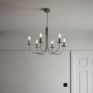 GoodHome Suhel Chrome Effect 6 Lamp Pendant Ceiling Light