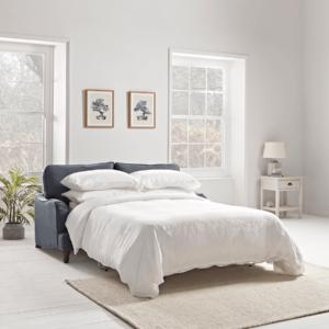 Kew Three Seater Sofa Bed - Blush Velvet