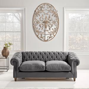 Layla Three Seater Sofa - Blush Velvet