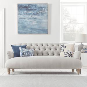 Margeaux Three Seater Sofa - Ash Linen Cotton Blend