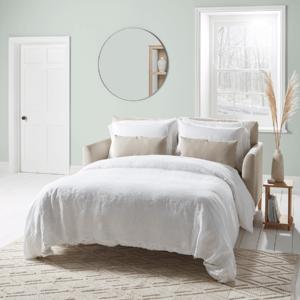 Nord Three Seater Sofa Bed - Blush Velvet