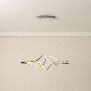 Vortex Chrome Effect Pendant Ceiling Light