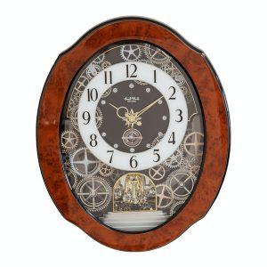Rhythm Magic Motion Cogs Clock - Crystals from Swarovski
