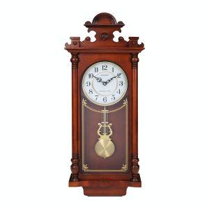 Rhythm Ornate Wooden Pendulum Clock - Westminster Chime