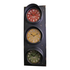 Vintage Style Traffic Light Clock, 83cm